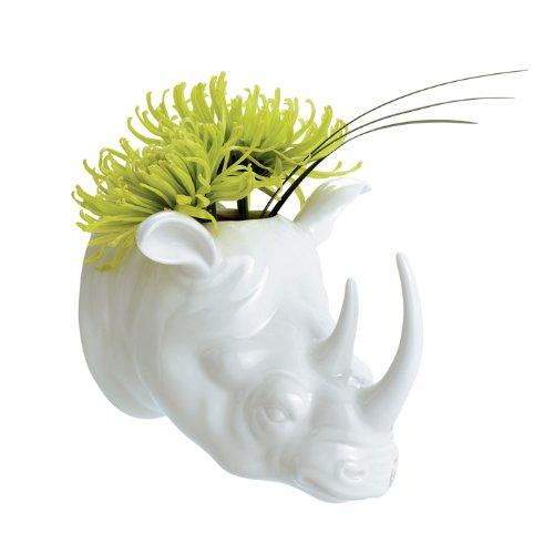 Torre & Tagus 900903 Safari Porcelain Rhino Wall Vase by Torre & Tagus