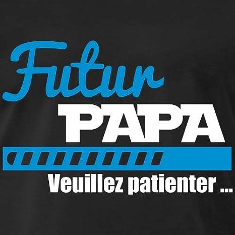 Futur Papa Veuillez Patienter T-Shirt Premium Homme