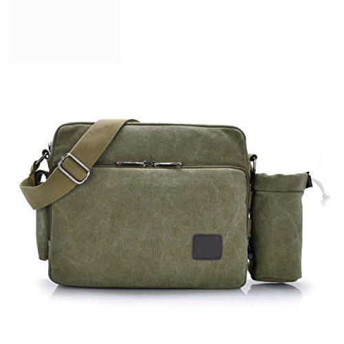 Casual Travel Business Men Bag Laptop Multicolor Vintage Boy Messenger Green2 Crossbody For Canvas Shoulder fZwxxRq