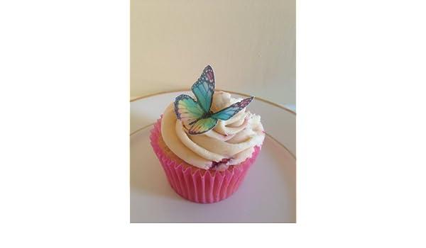 Rematada Off mejorar pastel decoraciones de mariposas, varios colores, comestibles, ya perforado, 15 pcs: Amazon.es: Alimentación y bebidas