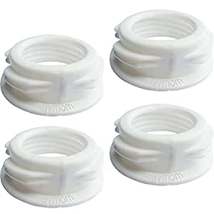 Maymom Baby Bottle Thread Changer; Allow Spectra S1 S2 Pumps' Wide Mouth Flanges to Use Medela Bottles