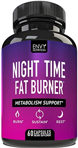 Night Time Fat Burner – Metabolism Support, Appetite Suppressant and Weight Loss Diet Pills for Men and Women – 60…