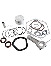 Cozy Pack of Piston Kits Connecting Rod Full Gaskets Crankcase Oil Seal fit for Honda Gx390 13hp Engine