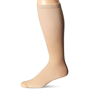 Medex Lab Calves High/Anti-Swelling/Varicose Veins Graduated Compression Socks for Men and Women, Great for Nurses/Work/Sports, Beige, Large/X-Large