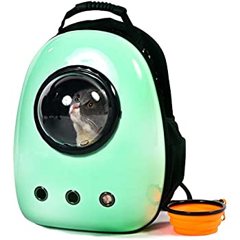 3015eb68bd6 Xpect Cat Carrier Bubble Backpack Small Dog Space Capsule Knapsack Pet  Travel Bag Waterproof Breathable (Light Green)