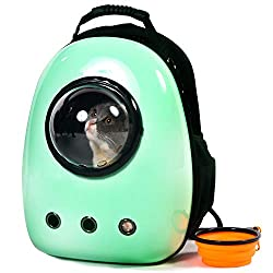 Xpect Cat Carrier Bubble Backpack Pet Travel Bag Small Dog Space Capsule Knapsack Waterproof Breathable