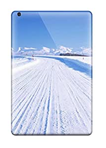 New Style 1134579K49627736 Flexible Tpu Back Case Cover For Ipad Mini 3 - Artistic Winter Snowy Road