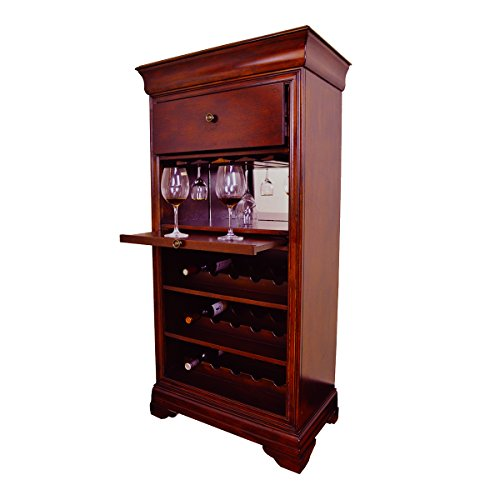 RAM Game Room Bar Cabinet, w/Wine Rack, Chestnut