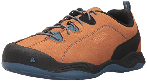 KEEN Unisex-Kids Jasper Waterproof Hiking Shoe, Cathay Spice/Orion Blue, 6 Youth US Big Kid