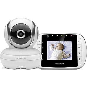 """Comprar Motorola Baby MBP 33S - Vigilabebés vídeo con pantalla LCD a color de 2.8"""", modo eco y visión nocturna, color blanco - Envíos Baratos o Gratis"""