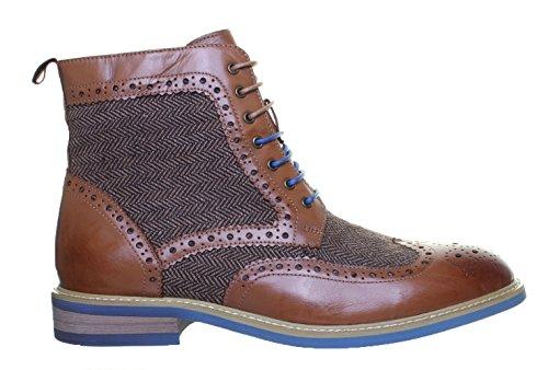 pelle pelle pelle Reece ufficio Brown Justin alla tweed elegante elegante elegante elegante Fa da caviglia e Stivaletto fqYwExz