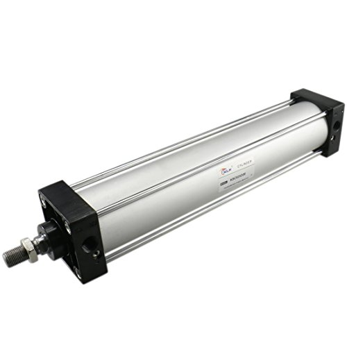 Baomain Pneumatic Air Cylinder SC 63 x 300 PT 3/8, Bore: 2 1/2 inch, Stroke: 12 inch, Screwed Piston Rod Dual Action