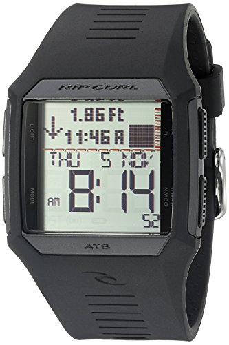 Rip Curl Men's A1119-BLK Rifles Tide Digital Display Quartz Black Watch