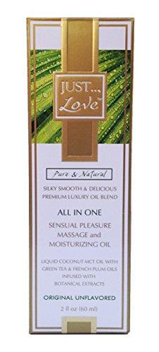 SÓLO amor en un placer Sensual, masaje y aceite hidratante Original sin sabor