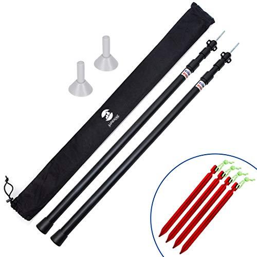 🥇 SaphiRose Adjustable Tarp Poles Set of 2 for Tents