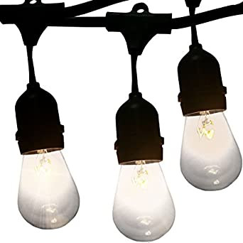 Outdoor Lighting 48 Foot Outdoor Cafe Lights By Vector. Café Style Outdoor  String Lights Are