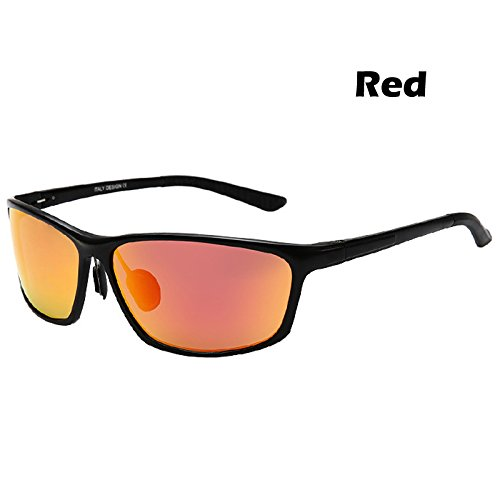 polarizado de polarizadas TIANLIANG04 rojo en hombres gafas de Gafas protección Guía aluminio espejo para Red gafas gafas de UV400 sol qPq8Xx