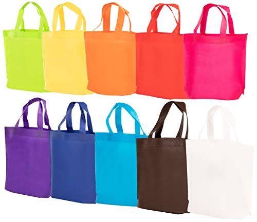 Party Favor Bags with Handles - 30-Pack Reusable Non-woven G