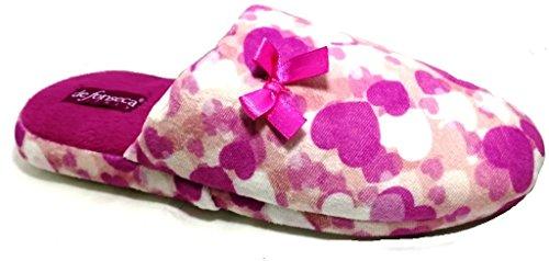 DE FONSECA ciabatte pantofole invernali donna mod. ROMA TOP W225 rosa