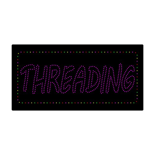 LED Treading Light Sign Super Bright Electric Advertising Display Board Eyebrow Facial Waxing Nails Spa Pedicure Message Business Shop Store Window Bedroom 24 x 12 inches by HIDLY (Image #3)