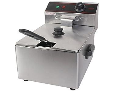 Giantex 2500w Deep Fryer Electric Commercial Tabletop Restaurant Frying w/ Basket Scoop