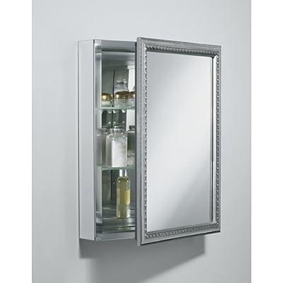 "Kohler K-CB-CLW2026SS 20"" x 26"" Silver Framed Single Door Mirrored Medicine Cabinet,"
