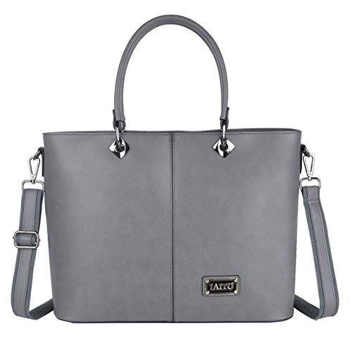 IAITU Laptop Bag, Multifunctional Briefcase Top Handle Fashion Womens Shoulder Bag For School Travel Office