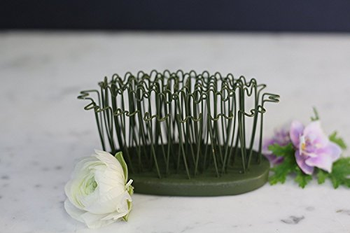 """Original Blue Ribbon Hair Pin Holders. Flexible Brass Hair Pins Make Designing Easy from Any Angle. Rust-Free. Oval 3-3/4"""", Green. Made in The USA. (3-3/4"""", Greem)"""