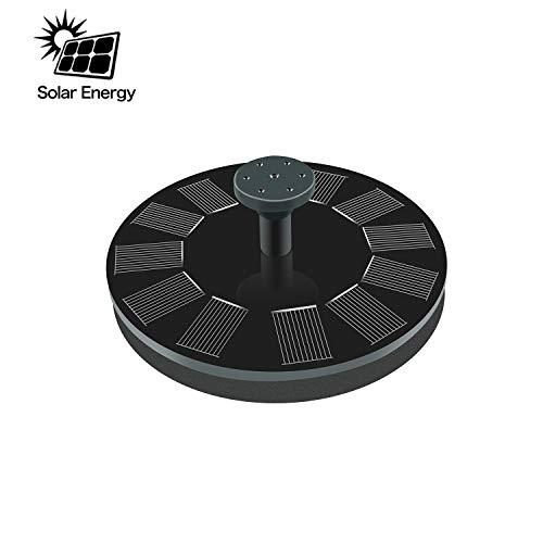 Solar Fountain, New Upgraded Mini Solar Powered Bird Bath Fountain Pump 1.4W Solar Panel Kit Water Pump,Outdoor Watering Submersible Pump for Pond, Pool, Garden, Fish Tank, Aquarium