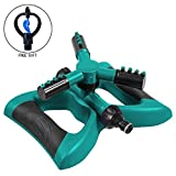 Kyerivs Lawn Sprinkler Outdoor Automatic Garden Water Sprinklers 360 Degree Rotating With 3 Arms Sprayer Range Up to 32.8 Ft for Lawn Irrigation System Kids