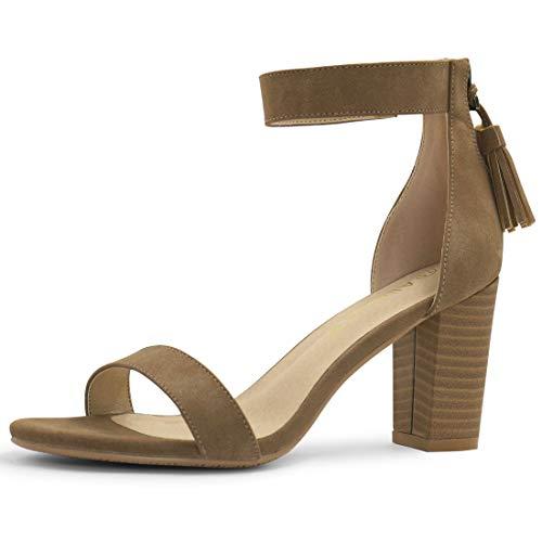 Image of Allegra K Women's Tassel Ankle Strap Heeled Sandal
