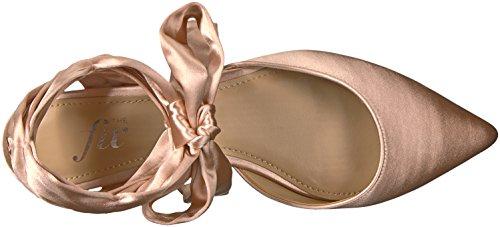 De Vaste Dames Priscilla Spitse Neus Lace-up Ballet Platte Petal Blozen Satijn