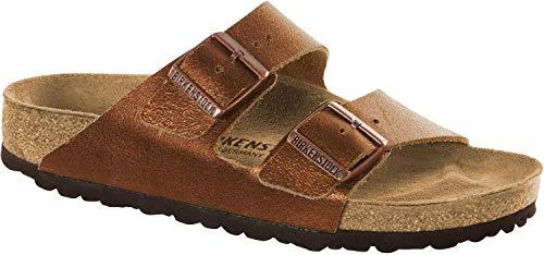 9e179fae53056 Birkenstock Arizona Washed Copper Leather Unisex Sandals 42 (US Women's  11-11.5)