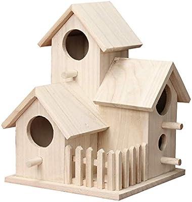 WARMWORD Casitas para Pájaros, Caja Nido, Casa De Aves Casa De Madera para Pájaros, Casa Nido, Regalo Ideal para Los Amantes De Las Aves, Cumpleaños. (marrón, Incluye: 1X Bird House): Amazon.es: Hogar