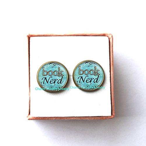 Book Nerd Costume (Book Nerd Earrings - Bookish Jewelry - Bookworm Earrings - Reading Earrings - Book Gifts Earrings)
