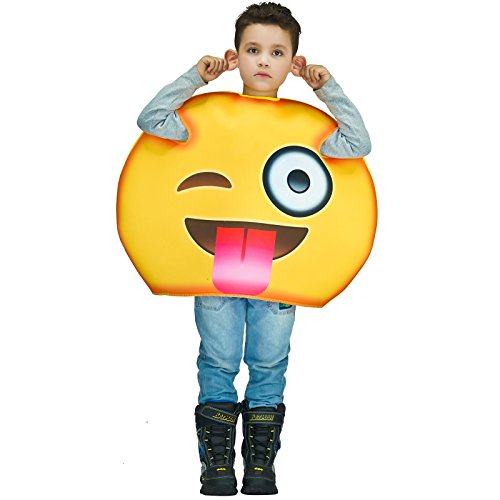 flatwhite Children Unisex Emoticon Costumes One Size (Tongue out)