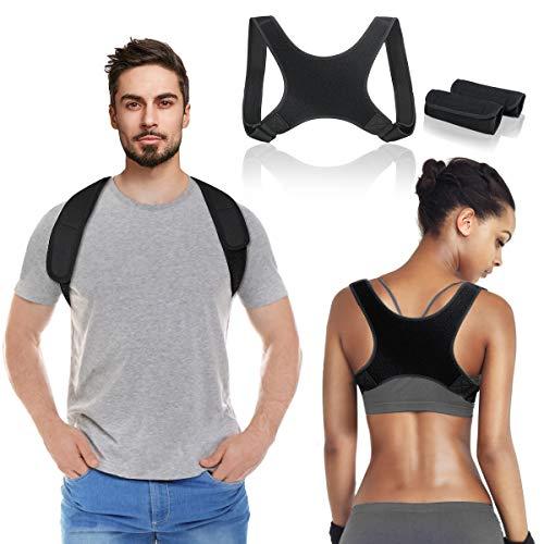 🥇 Corrector de Postura para Hombres y Mujeres,Transpirable y Ajustable Corrector Espalda Hombro, Mejorar Postura Hombro y Cuello