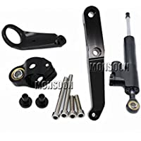 Aluminum Street Bike Steering Damper Mounting Kit Stabilizer Adjustable Black For HONDA CBR954RR CBR 954 RR 2002-2003