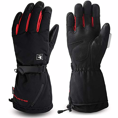 Venustas [2019 Upgraded] Heated Gloves for Men and Women,Heated Ski Gloves, Rechargeable Battery Heated Gloves, Electric Gloves Heat up to 10 Hours (Best Heated Motorcycle Gloves 2019)