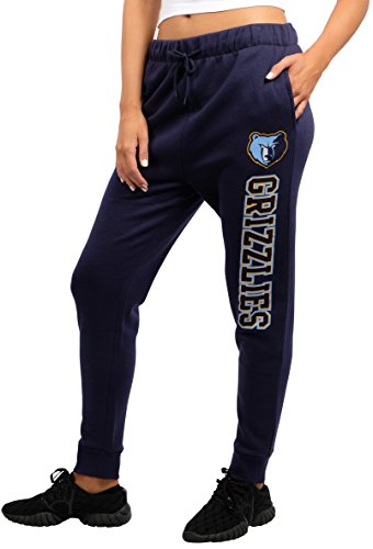 NBA Memphis Grizzlies Women's Jogger Pants Active Basic Fleece Sweatpants, Medium, Navy