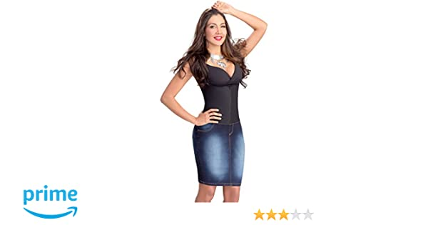 Lowla Fashion Shapewear Denim Skirt Pencil Stretch Girdle 258015 Faldas de Jean at Amazon Womens Clothing store: