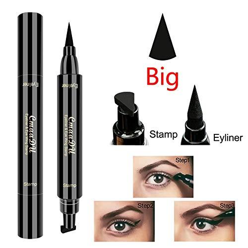 LOSFPVR Eye Liner Stamp Double-Headed Wing Seal Eyeliner Make Up Pen Eyeliner Liquid New Cosmetic Waterproof Long Lasting Women Eye Liner Paint Brushes 2019 (Big)
