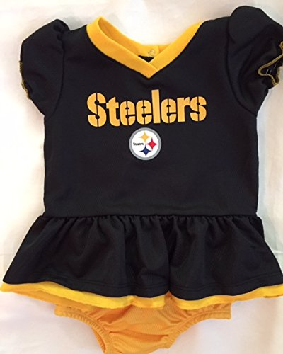Steelers Baby Clothes Gorgeous NFL Pittsburgh Children Girls Dazzle Dress Panty Set 60060 Months