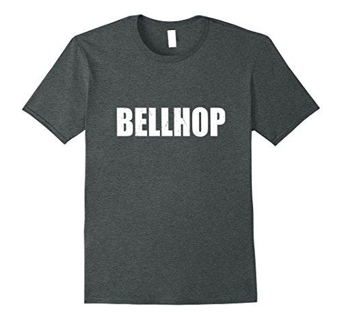 Bellhop Costume Male (Mens Bellhop Shirt Halloween Costume Funny Cute Distressed Print 3XL Dark Heather)