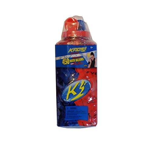 Kaos Red & Blue Biodegradable Latex Water Balloons - 450 Count and 2 Deluxe Balloon Fillers by KAOS