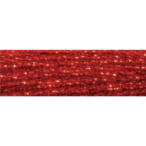 DMC 317W-E321 Light Effects Polyster Embroidery Floss, 8.7-Yard, Red -
