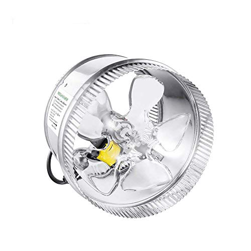 500 Cfm Variable Speed Fan - MELONFARM 8 Inch Duct Fan 500 CFM, Low Noise HVAC Metal Booster Blower for Exhaust and Intake Extra Long 6.0' Grounded Power Cord