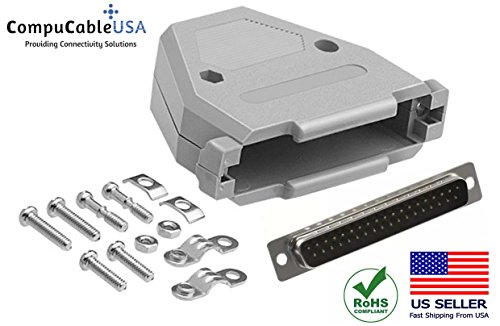 CompuCablePlusUSA.com Best DB37 Male Solder Cup Connector Kit with DB37 Plastic Hood Best Complete DB37 Male Solder Type Set Fix/Make/Assembly Your own DB37 ()
