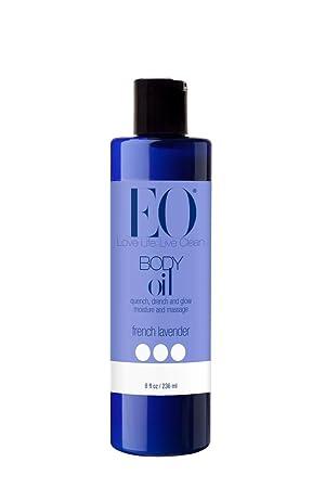 EO Body Oil for Massage Moisture, French Lavender, 8-Ounce Bottles Pack of 2