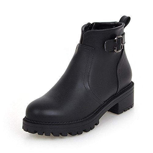 Women's Round Toe Flat Ankle Boots Casual Shoes - 7